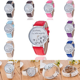 boys watch new style UK - NEW Women Wrist Watch Leather Band Letter Watch Girls Boys Wristwatch Analog Quartz Watches 10 Styles for Choose