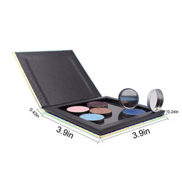 $enCountryForm.capitalKeyWord Australia - Quality DIY Color Changeable Makeup Box 3.9*3.9*0.39 Fish-Scale Patterns Refill Palette Empty Magnetic Palette Eyeshadow Powder Foundation
