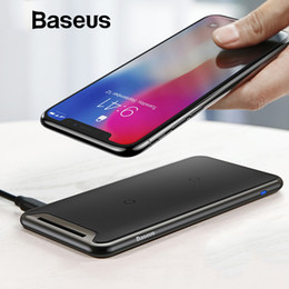 Qi For Iphone Australia - Baseus Qi Wireless Charger For Iphone Xs Max Xr Samsung S9 Note 9 Xiaomi Desktop Wireless Charger Wireless Charging Pad Station T6190614