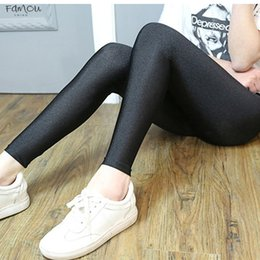 black corduroy leggings Australia - Women Black Legging Slim Ladies Push Up Autumn Leggings High Waist Stretchy Soft Large Size Women Leggings