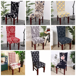 Kitchen Seating Australia - Chair Covers Spandex Kitchen Slipcover Removable Dining Seat Covers Elastic Seat Case Office Banquet Wedding Decor 39 Designs YW2792
