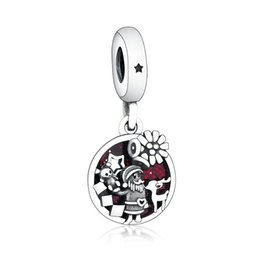 pandora christmas charms Australia - New Authentic 925 Sterling Silver Bead Charm Red Enamel Santa Love Peace Joy Pendant Beads Fit Pandora Bracelet Bangle Diy Christmas Jewelry