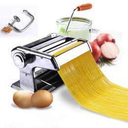 """150mm 6"""" Pasta Maker Roller macchina della tagliatella Spaghetti Fettuccine Maker Salute in Offerta"""