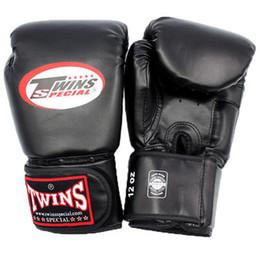 Free Muay Thai Gear Australia - 10 12 14 Oz Boxing Gloves Pu Leather Muay Thai Guantes De Boxeo Free Fight Mma Sandbag Training Glove For Men Women Kids 4 Color