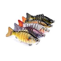 Fishing Lures Wobblers Swimbait Crankbait Hard Bait Isca Artificial Fishing Tackle Lifelike Lure 7 Segment 10cm 15.5g on Sale