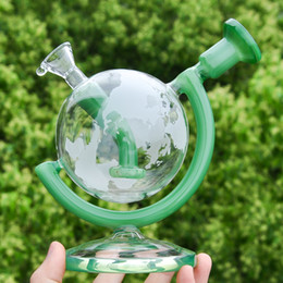 $enCountryForm.capitalKeyWord Australia - 5.7inches Globe Glass Bong Recycler Bubbler Glass Water Pipe Dab Oil Rig with 14.4mm glass bowl Smoke Accessory free shipping