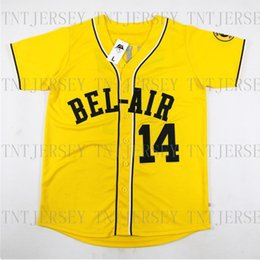 Wholesale Cheap Retro custom Will Smith Jerseys Bel Air Academy Yellow Stitched Customize any number name MEN XS XL