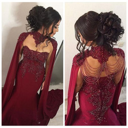 Lace coraL online shopping - Sweetheart Lace Appliques Slim Mermaid Evening Dresses With Wrap Beaded Middle East Prom Party Gowns Customized Robe De Soiree