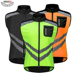 High Visibility Motorcycle Australia - Cycling Riding Motorcycles High Visibility Reflective Jacket Safety Cloth MOTO Motocross Off-Road Warning Vest Protection Gear Wind Coat