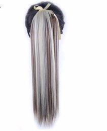 $enCountryForm.capitalKeyWord UK - Hair 22'' Long Straight Ponytails Clip In Ponytail Drawstring Synthetic Pony Tail Heat Resistant Fake Extensions