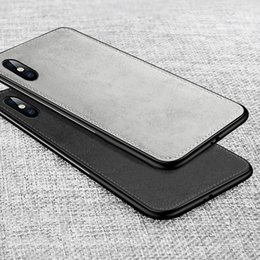 cloth iphone Australia - High Quality Canvas Silicone Case For iphone 8 Plus 6s X 6 7 Fabric Cloth Texture Soft Cover On the for iPhone 7 Plus Case Coque