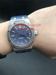 $enCountryForm.capitalKeyWord Australia - 4 Style AWF Top 3120 Movement Luxury Watch 41MM Blue Dial 15400 Leather Strap Wristwatches Mechanical Transparent Automatic Mens Watches