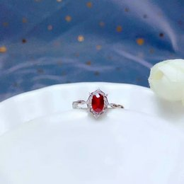 Wedding pigeons online shopping - shilovem Natural New Burning Pigeon Blood Ruby Gemstone Rings for Women Real Sterling Silver new gift mm bj040677agh