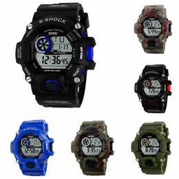 Men Digital Wrist Watches Australia - Fashion Multi-function Men Sports Digital Quartz Wrist Watch Waterproof