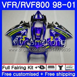 honda vfr interceptor fairings Australia - Body For HONDA Interceptor Movistar Blue VFR800R VFR800 1998 1999 2000 2001 259HM.41 VFR 800RR VFR 800 RR VFR800RR 98 99 00 01 Fairing kit