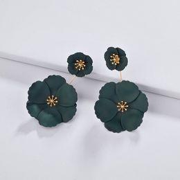 $enCountryForm.capitalKeyWord Australia - Kendra Luxury Designer Painting Flower Charms Earrings Gold Fashion Women Summer Spring Jewelry