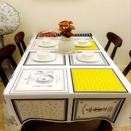 Ingrosso Nordico piccolo e puro e fresco cotone e canapa panno arte antependium, tovaglia di salotto tavolo da tè rettangolo spese familiari