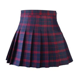 Korean Style Women Pleated Skirt Summer High Waist Japanese Sweets Plaid Mini Skirt School Girl Saia Colegial Jupe Plisse Femme T519053002