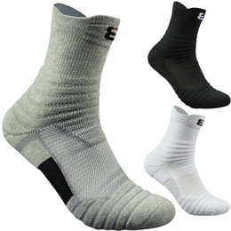 Badminton Towel Australia - 1Pairs Mens Professional Outdoor Sports Running Badminton Socks Male Thick Towel Cotton Basketball Socks Elite Sock