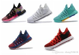kds shoes for NZ - Naike KD 10 EP Basketball Shoes for Top quality Correct Version Kevin Durant X kds 10s Rainbow Wolf Grey KD10 FMVP Sports Sneakers USA 7-12