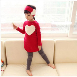 Girl Children Models NZ - Binbi Bear 2019 new spring models children 's clothing long - sleeved suit girls love three - color two - color foreign trade