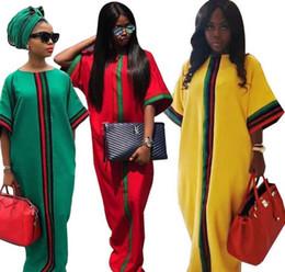 $enCountryForm.capitalKeyWord Australia - Casual Traditional African Long Maxi Dress Summer Digital Printing Half Sleeved Dashiki Robe Gowns Dresses Loose Size
