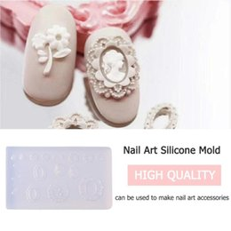 3d design nail Canada - 3D Pattern DIY Nail Art Silicone Mold Nail Art Template Designs Pattern Decoration UV Gel Template Form Molds Cattie Decor