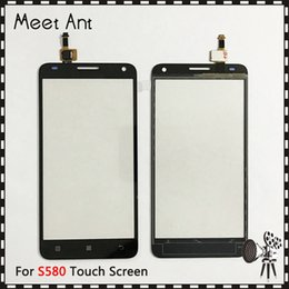 "Lenovo Touch Screen Replacement Australia - Replacement High Quality 5.0"" For Lenovo S580 Touch Screen Digitizer Sensor Outer Glass Lens Panel"