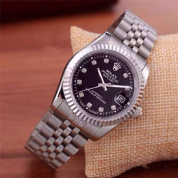 Wholesale Relogio masculino diamond mens Rolex watches fashion Black Dial Calendar gold Bracelet Folding Clasp Master Male couples