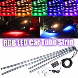 $enCountryForm.capitalKeyWord Australia - QCDIN 1set RGB 5050 LED Car Tube Strip Light Neon Light Kit RF Wireless Control Waterproof
