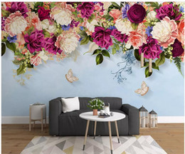 Butterfly decor for nursery online shopping - WDBH d photo wallpaper custom mural Modern minimalistic hand drawn rose butterfly background home decor living room wallpaper for walls d