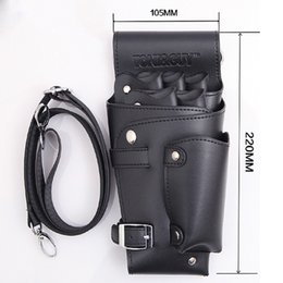 sanitary belts Australia - Pu Leather Rivet Hair Scissor Bag Clips Bag Hairdressing Barber Scissor H-Olster Pouch Holder Case With Waist Shoulder Belt(Blac Kitchen Sto