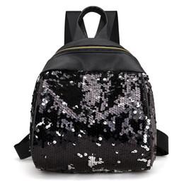 $enCountryForm.capitalKeyWord UK - Women backpack Fashionable Sequin Backpack Ladies PU leather Shoulder Bags ZK30