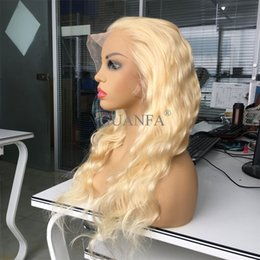 $enCountryForm.capitalKeyWord Australia - 613 Blonde Full Lace Wigs With Baby Hair Virgin Hair Body Wave Bleached Knots Natural Hairline Lace Front Wigs