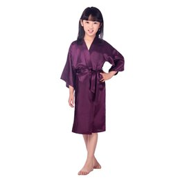 174e7a139e9b6 Summer Women Wedding Flower Girl Robes Pajamas Dress Girls Home Long Pajamas  Bathrobe Loose Robe for Children Bath Robes