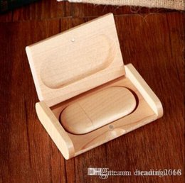 $enCountryForm.capitalKeyWord NZ - Over 30pcs Free Customized Wooden Box USB 2.0 Flash Drive 16GB 8GB Memory Stick