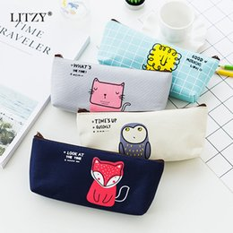 pen big Canada - kawaii Animal Pencil Case for Children Gift Pencil Bag School Supplies Stationery Cute Big Box Pencilcase Pen Curtain Box