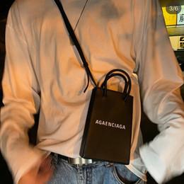 Mens handbags online shopping - TS Letter Logo Print Mobile Phone Bag Messenger Bag Mens Womens Ladie Designer Luxury Handbag Purses Shoulder Bag Black White GrayTSYSBB329