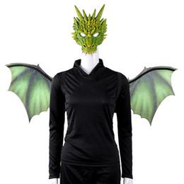 $enCountryForm.capitalKeyWord UK - Devil angel wings vampire dragon dinosaur mask wings adult kids fancy costume props cosplay Halloween carnival purim props