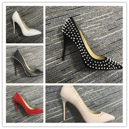 high pump sex Australia - luxury studded red bottoms Pointed Toe Pumps sex red sole high heels spikes wedding bottom custom 8cm 10cm 12cm suede party dress shoes