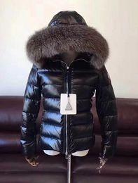 $enCountryForm.capitalKeyWord NZ - Women Brand Duck Down Coat 100% Real Fox hair Fur Collar Down Jacket Hooded Waist Slim Thick Duck Down Parkas