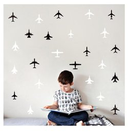 Airplane Art Australia - Small Airplane Boy's Room Decoration Small Sticker wall sticker living room bedroom vinyl engraved wall decals home decoration stickers