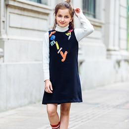 $enCountryForm.capitalKeyWord NZ - W.L.MONSOON Kids Dresses for Girls Clothes Letter Embroidered 2019 Brand Winter Toddler Girl Dresses Princess Children Clothing