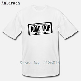 Official Road Trip License Plate T Shirt Cool Printing Comfortable Cotton Spring Autumn O-Neck Crazy Gents Shirt