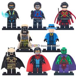 Batman Blocks Australia - 10LOTS OF DC Super Hero Red Son Batman Black Lighting Eradicator The Question Robin Wild Dog Building Blocks Toys Children Gifts