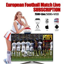 Assinatura de IPTV 7000+ Canais de IPTV Francês UK Esportes S-ky Abastecimento de Esportes IPTV 30 + Países Suporte Android TV CAIXA M3U Smart TV venda por atacado