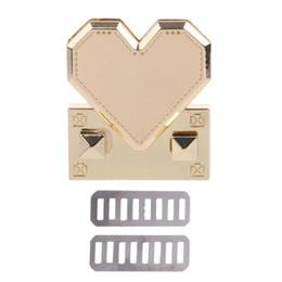 Heart Shaped Handbags Wholesale Australia - Heart Shape Metal Clasp Turn Twist Lock for DIY Handbag Craft Shoulder Crossbody Bag Purse Hardware