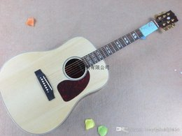 New body acoustic guitars online shopping - New G nature wood spruce body J45 Acoustic Guitar