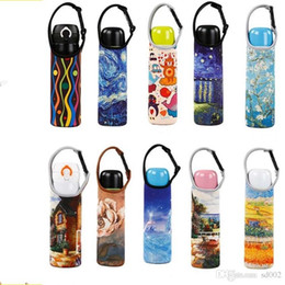 Water Bottle Straps Holders Australia - 420ml 550ml Submersible Material Cup Sleeve Water Bottle Insulated Cover Carrier Bag Pouch Strap Ironing Buckle Cups Holder Teacup 3 3aj2 gg
