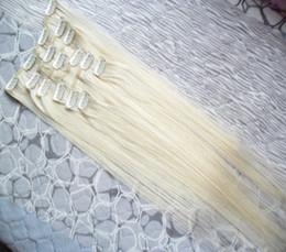 $enCountryForm.capitalKeyWord Australia - 100g Straight Clip In Human Hair Extension Remy Brazilian Virgin Hair Clip Ins Human Extension Blonde 14 16 18 20 22